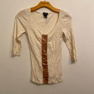 WET SEAL Cream Top Size Small